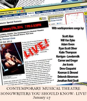 Kerrigan-Lowdermilk featured in Contemporary Musical Theatre Songwriters You Should Know: LIVE!